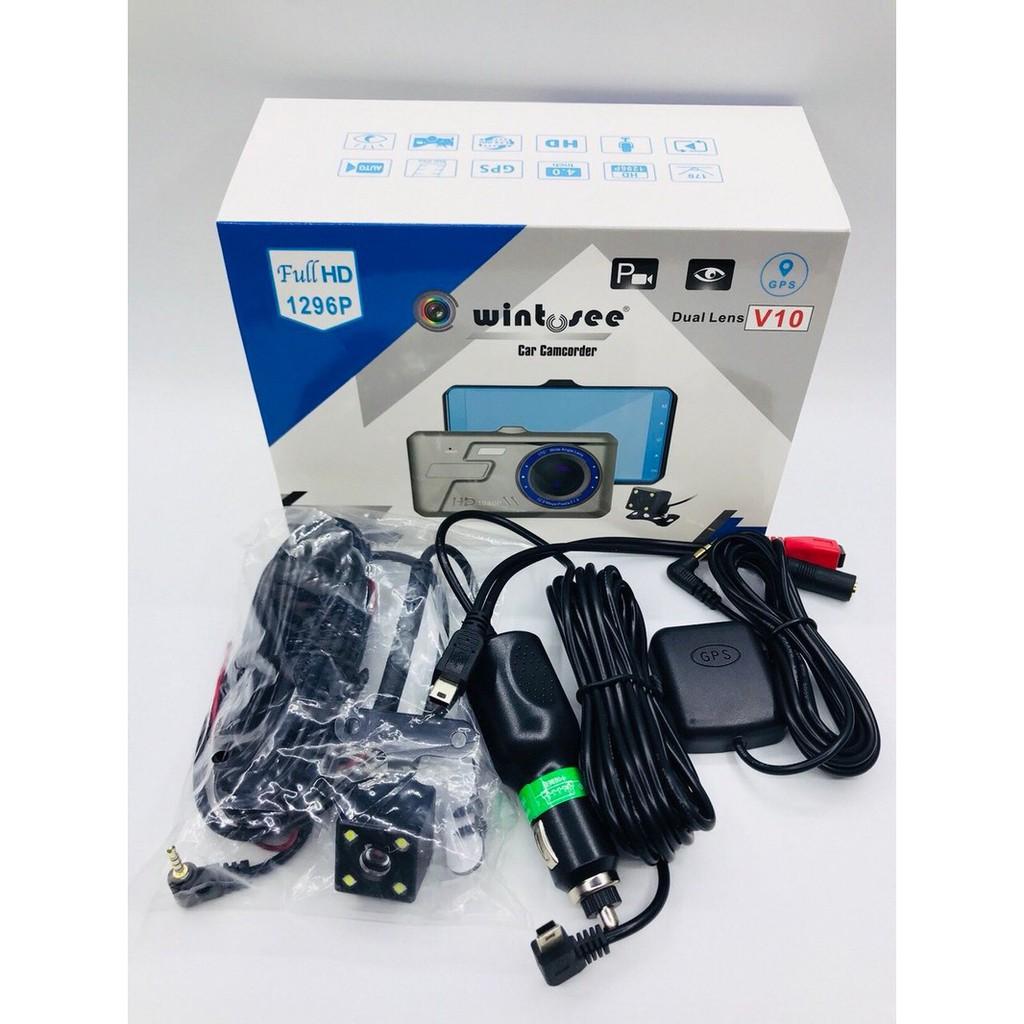 Camera Hành Trình Xe Hơi V10. Màn Cảm Ứng 3.2in