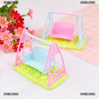 【Homeliving】Swing Set For Doll Girl Doll Toy House Furniture Accessories