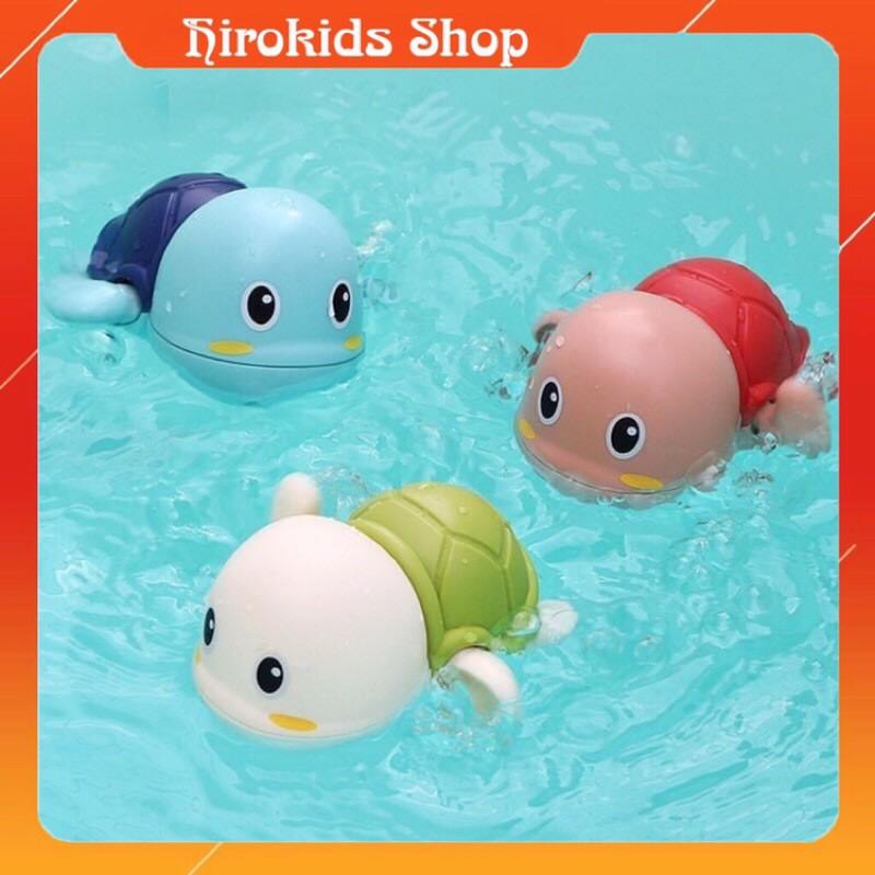 Đồ chơi nhà tắm, Rùa bơi vặt cót thả bồn chậu tắm bằng nhựa cho bé – HIROKIDS