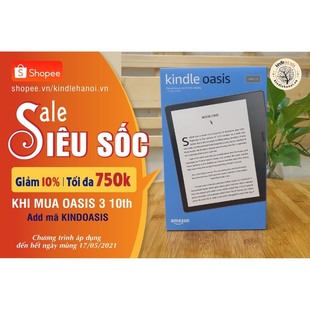 Máy đọc sách Kindle Oasis 3 (10th) nhập chính hãng từ Amazon màn hình vàng warmlight, chống nước IPX8