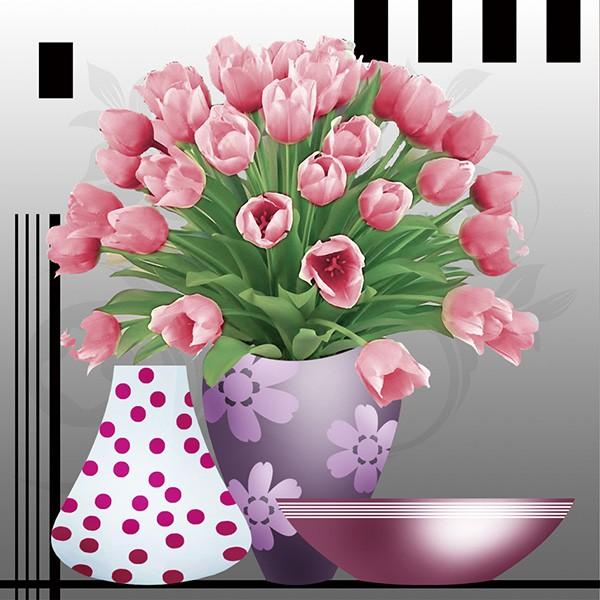 Tranh Đính Đá Bình Hoa Tulip Hồng H610 - 3266134 , 423973558 , 322_423973558 , 146000 , Tranh-Dinh-Da-Binh-Hoa-Tulip-Hong-H610-322_423973558 , shopee.vn , Tranh Đính Đá Bình Hoa Tulip Hồng H610