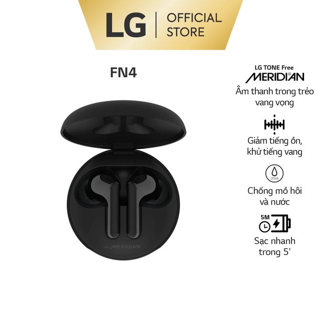 LG Tone Free HBS-FN4 – Màu Đen – Tai Nghe Không Dây Công nghệ âm thanh MER