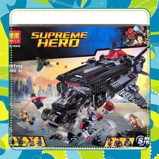[Siêu-Rẻ] Lego super heroes avengers 10846 Đại chiến batman- siêu nhân người dơi và tàu chiến