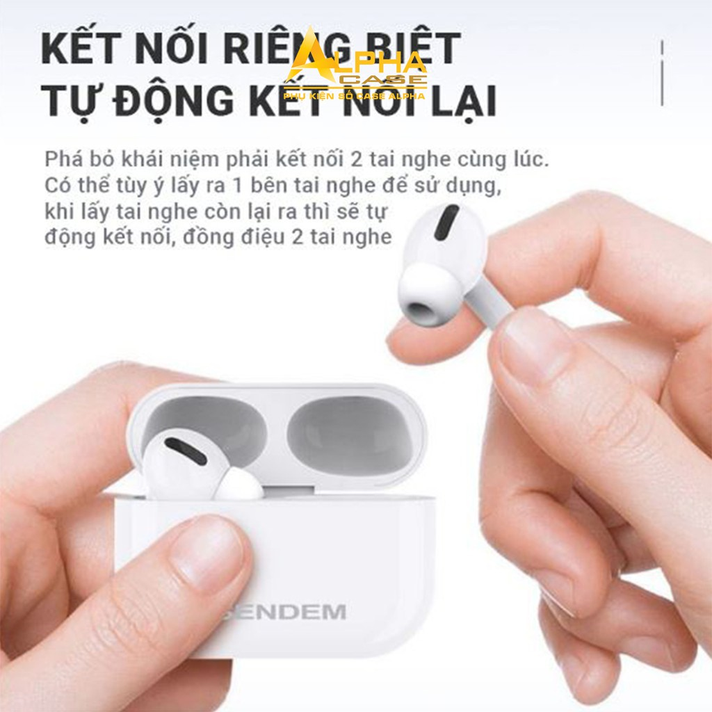 Tai Nghe Bluetooth AP TWS Chính Hãng SD Design tai nghe không dây Đổi Tên - Định Vị Chống ồn casealpha
