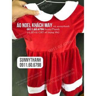 Vải nhung ĐỎ NOEL-TRẮNG may đồ ông già NOEL, Giáng Sinh cho trẻ em, người lớn