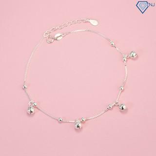 Lắc chân bạc có chuông, lắc chân bạc nữ đẹp giá rẻ LCN0022 - Trang Sức TNJ