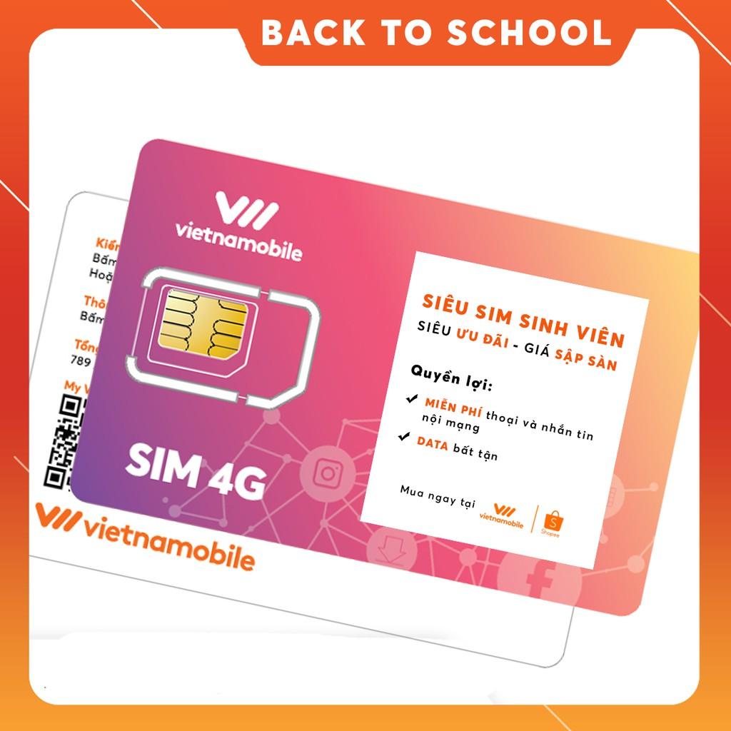 [Nhập VNMSV19 mua giá 0Đ] Siêu Sim Sinh Viên Data Bất Tận Miễn phí Gọi & SMS nội mạng - Duy trì chỉ 20k/tháng - VNM