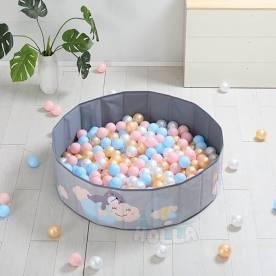 [ CHÍNH HÃNG] Bể bóng gấp gọn Holla – Làm bể bơi – Quây bóng mini cho bé với set 100 bóng