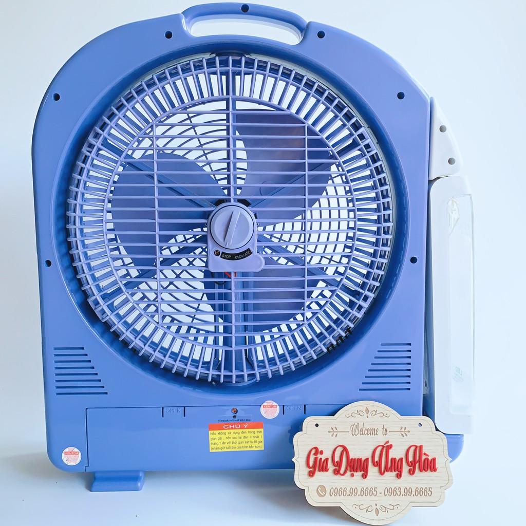 Quạt tích điện kèm đèn Quạt sạc tích điện Kentom KT9200 2 bình