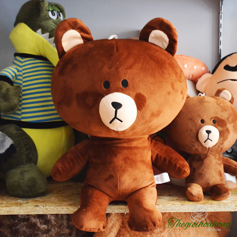 SALE Gấu bông Brown cao cấp khổ vải 70 cao 50 hàng VNXK