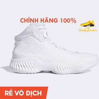 Giày Sneaker Bóng Rổ Nam Adidas Pro Bounce 2018 Mid Fw0902 Triple White - Hàng Chính Hãng - Bounty Sneakers thumbnail