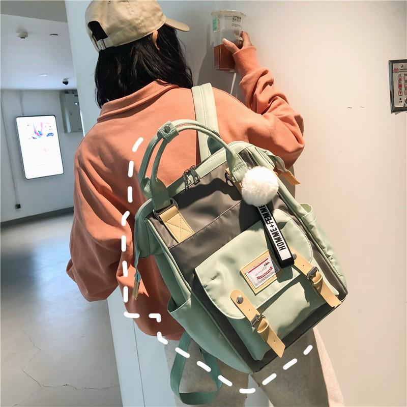 Balo ulzzang order cặp xách túi đeo vai đi học nhiều màu dáng hàn quốc KÈM ẢNH THẬT