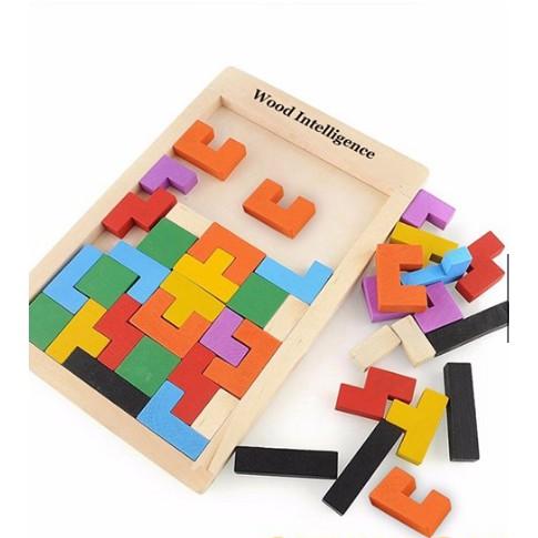 Bộ Đồ Chơi Xếp Hình Phát Triển Tư Duy Tetris Cho Bé