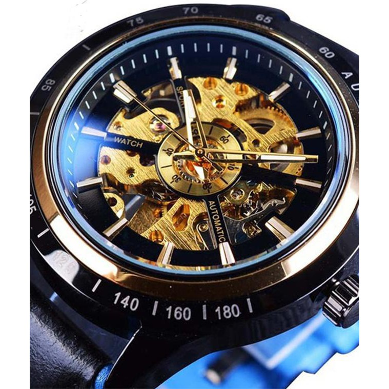Đồng hồ nam Tevise cơ lộ máy Nhật chính hãng 829 automatic chống xước - chống nước, dây da mềm cao cấp