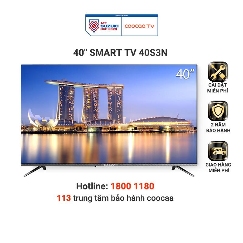 Smart TV Full HD Coocaa 40 Inch Tivi - Tràn Viền - Model 40S3N (Bạc) - Miễn phí lắp đặt