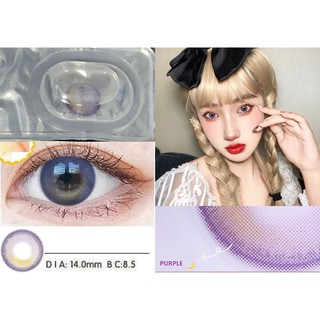 (20.DEC.25)Merry X'mas ,ZXSZI Series,Xiyou Brand,14.0mm,(Grade 0-8.00), Contact Lens yearly use(purple)