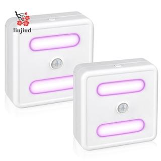 2Pcs Wall Lamp Night Light UV Disinfection Lamp Motion Sensor