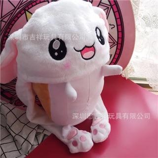 ( order 20d ) Mũ thỏ tai giật cho doll 20cm