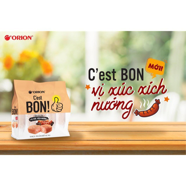 Combo 5 Bịch Bánh ăn sáng C'est Bon Orion Vị Xúc Xích Nướng (25 bánh x