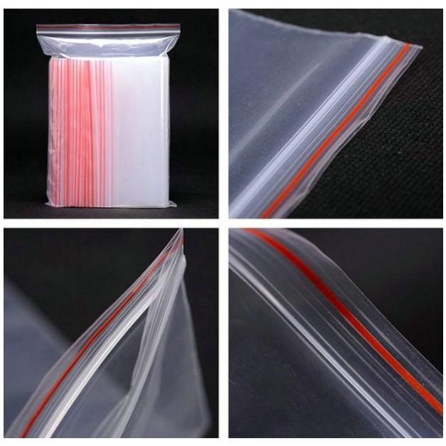 100 cái túi Zip PE Mini 6x4cm