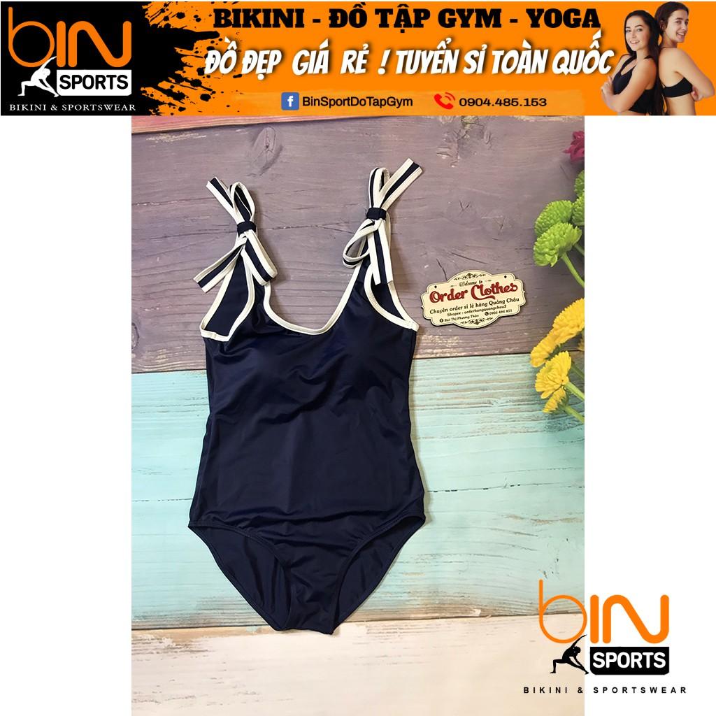 Bikini,Bộ Đồ Bơi Một Mảnh Vai Nơ Sexy Mặc Đi Biển  BHV012