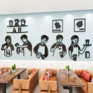 Yêu ThíchSIZE LỚN Tranh dán tường mica - quầy pha chế trang trí quán cafe, trà sữa