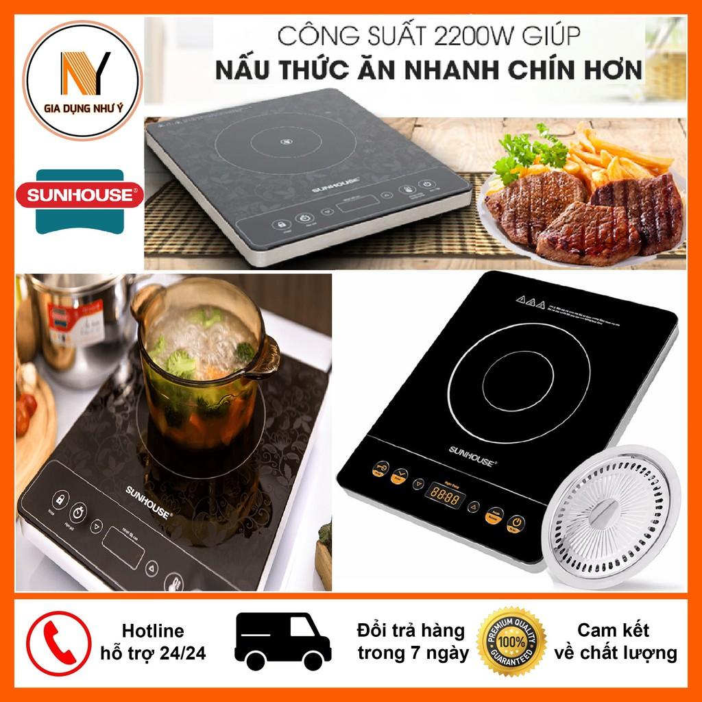 Bếp Hồng Ngoại Sunhouse SHD6020 2200W, Mặt Kính Cảm Ứng Siêu Bền - Bếp điện  kết hợp