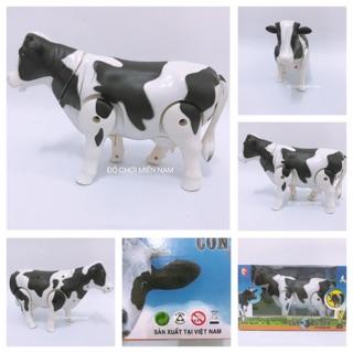 [Có đèn nhạc][Hàng VN] đồ chơi con bò sữa biết đi, biết kêu, siêu hấp dẫn giành cho bé