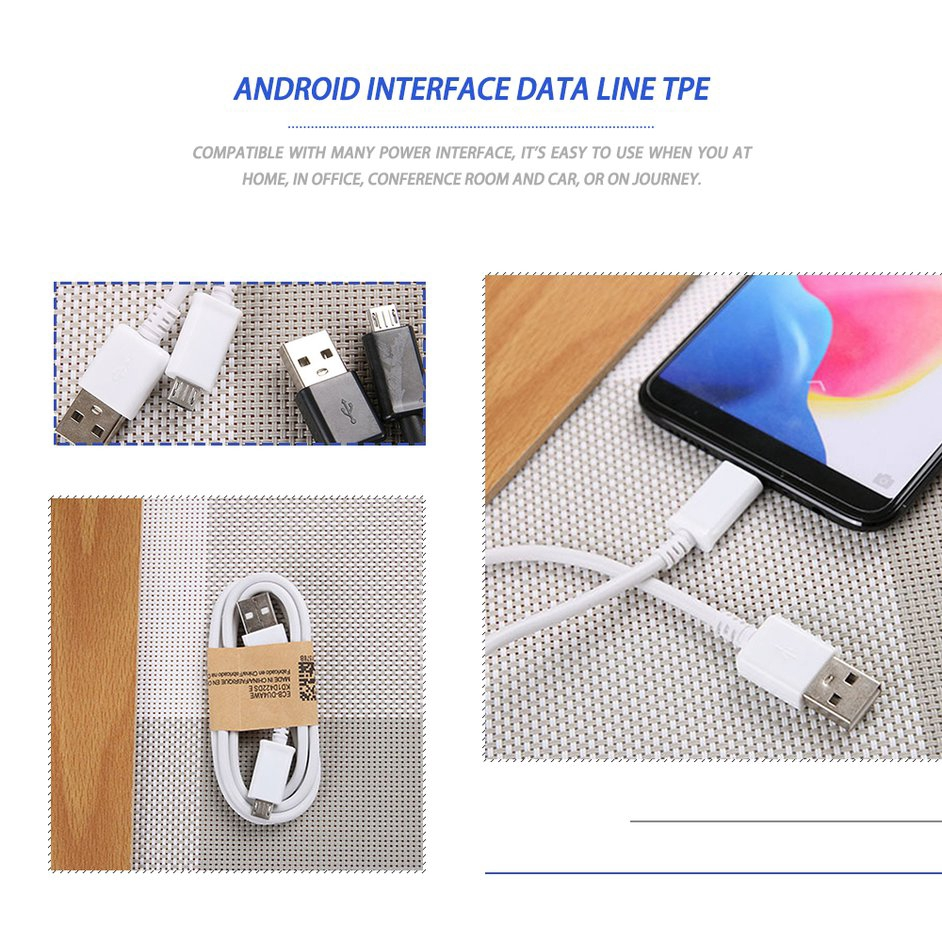 Dây cáp sạc Micro USB2.0 thông dụng cho điện thoại  Cáp dữ liệu cáp sạc Charging Cable data cable