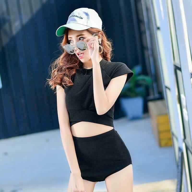 Bikini Hàn quốc áo cộc tay croptop, quần cạp cao (có ảnh thật) - 3368613 , 984858678 , 322_984858678 , 350000 , Bikini-Han-quoc-ao-coc-tay-croptop-quan-cap-cao-co-anh-that-322_984858678 , shopee.vn , Bikini Hàn quốc áo cộc tay croptop, quần cạp cao (có ảnh thật)