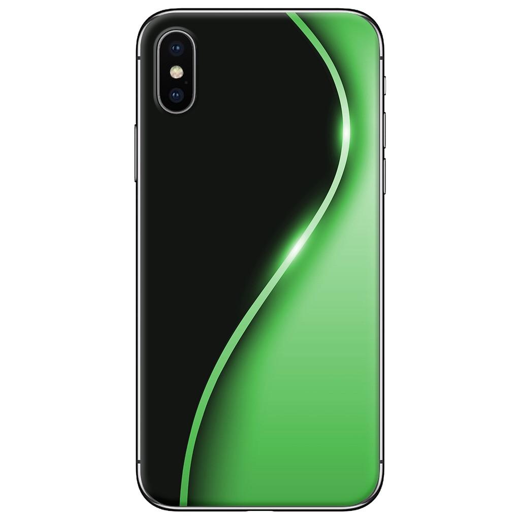 Ốp lưng iPhone X - nhựa dẻo Đường cong xanh