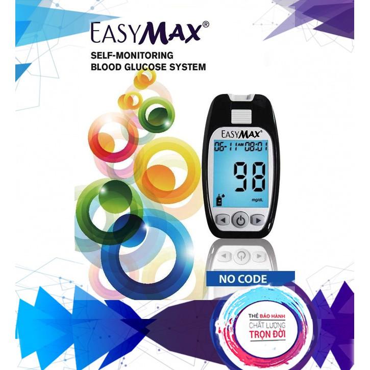 Máy đo đường huyết EasyMax MU của Mỹ (Kèm hộp 25 que thử)