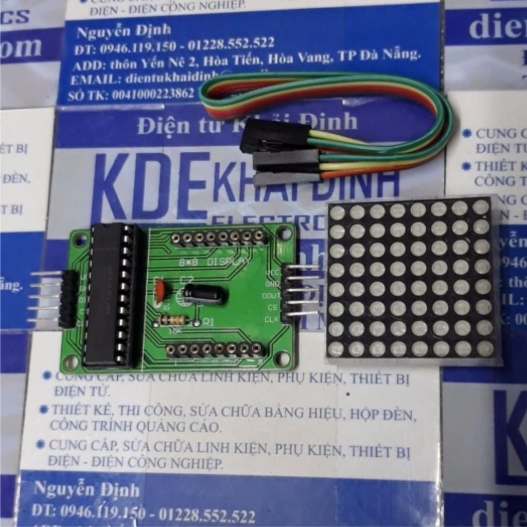(CÓ SẴN) module led ma trận IC MAX7219 DIP + hearder 5P kde3148 CÓ SẴN