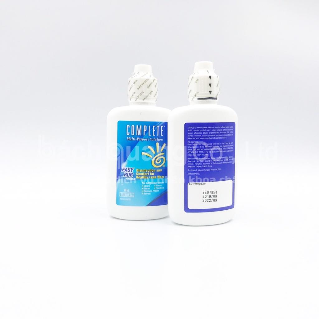 [SALE] Nước ngâm rửa kính áp tròng diệt khuẩn Complete Easy Rub 60ml_Date: 05/2022