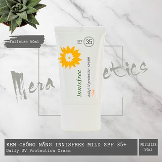 Freeship Kem Chống Nắng Innisfree Daily Uv Protection Cream Mild SPF 35 PA