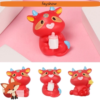 💕FAY💕 Accessories Miniature Taurus Micro Landscape Animal Model Cow Figurines Cute Little Statue Bonsai Bonsai Ornament Handicrafts Fairy Garden Micro Landscape