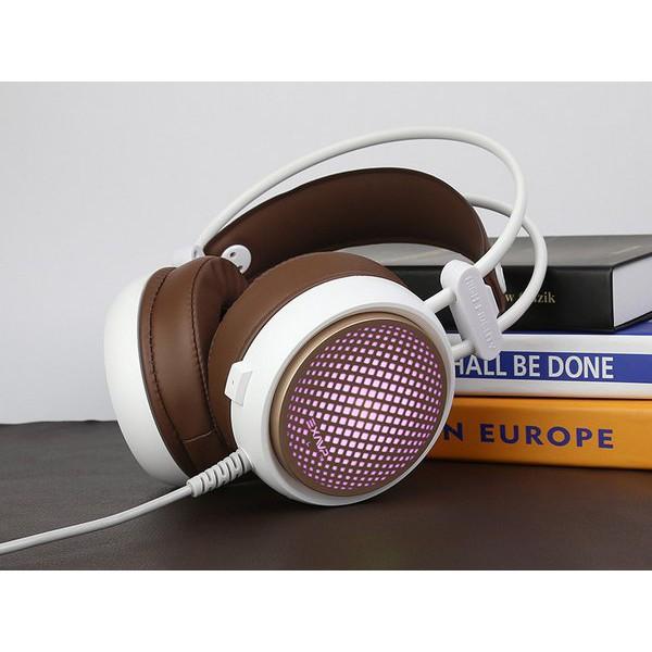 Tai Nghe Game Chụp Tai Headphone EXAVP EX310 LED Chuyển Màu Chính Hãng