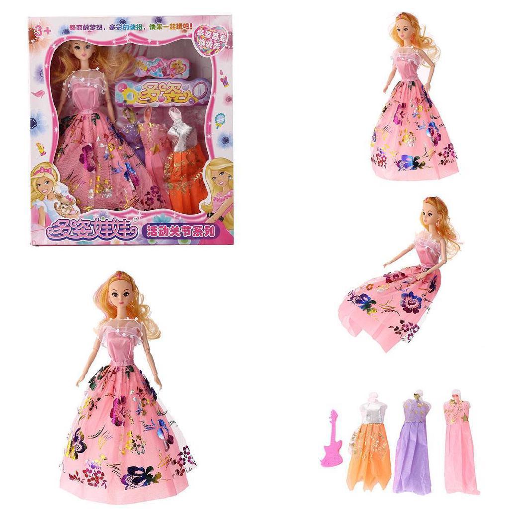 Se Princess Doll Toy Wedding Dress Party Dress Up Trang phục Cô gái Đồ chơi Sinh nhật Quà tặng