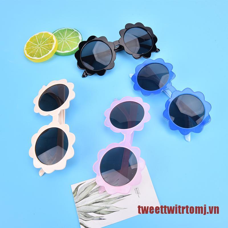 TOMJ Kids Polarized Sunglasses Round Flower Edge Children Uv400 Outdoor Eyewear
