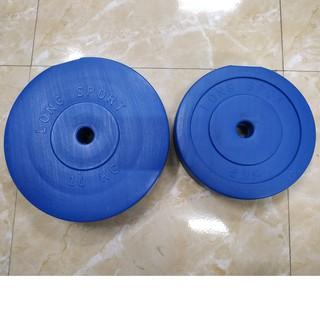 Bộ vỏ tạ bánh nhựa 80kg bao gồm 6 vỏ bánh tạ 10kg và 4 vỏ bánh tạ 5kg tập Gym, đẩy tạ đĩa, tạ bánh