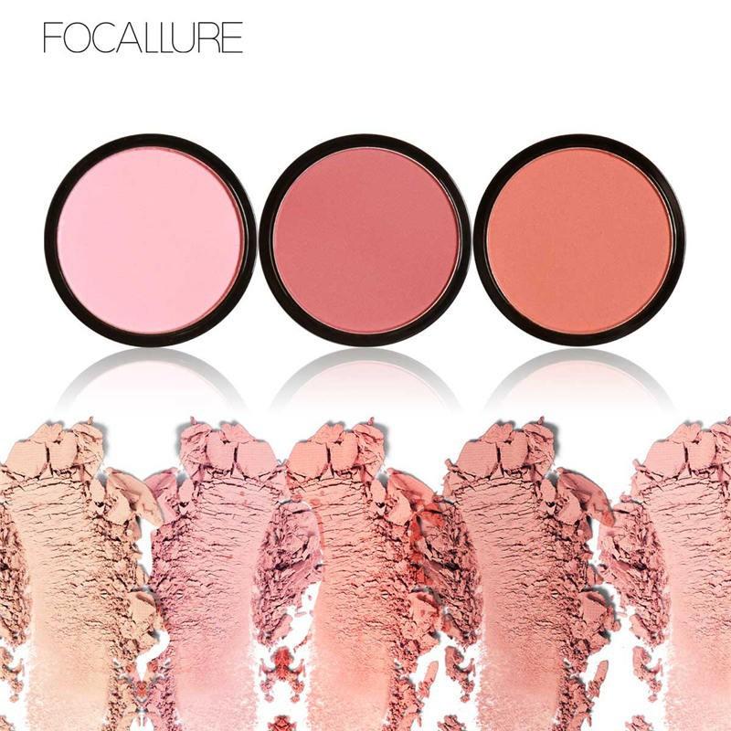 Phấn má hồng FOCALLURE gồm 6 màu tùy chọn 4g