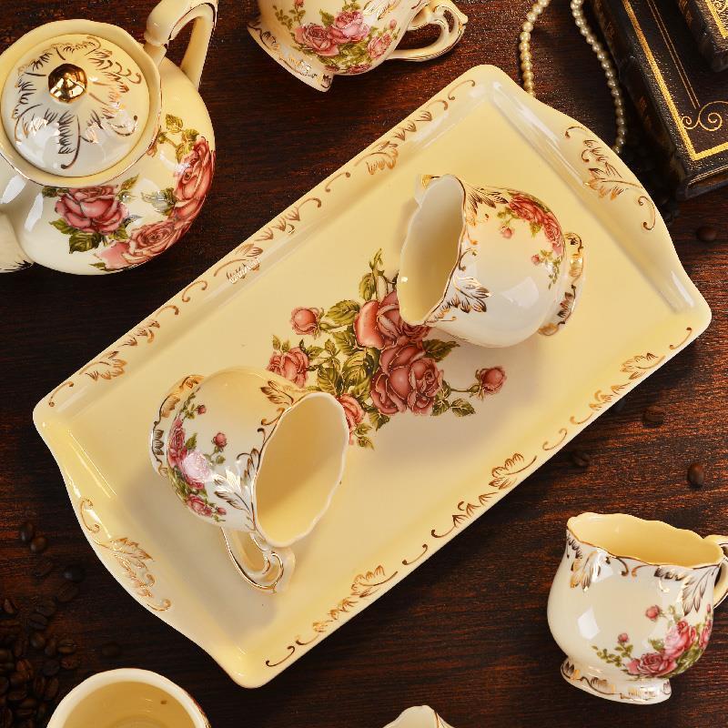 khay sứ đựng trà/bánh bao đa năng tiện dụng hình chữ nhật xinh xắn