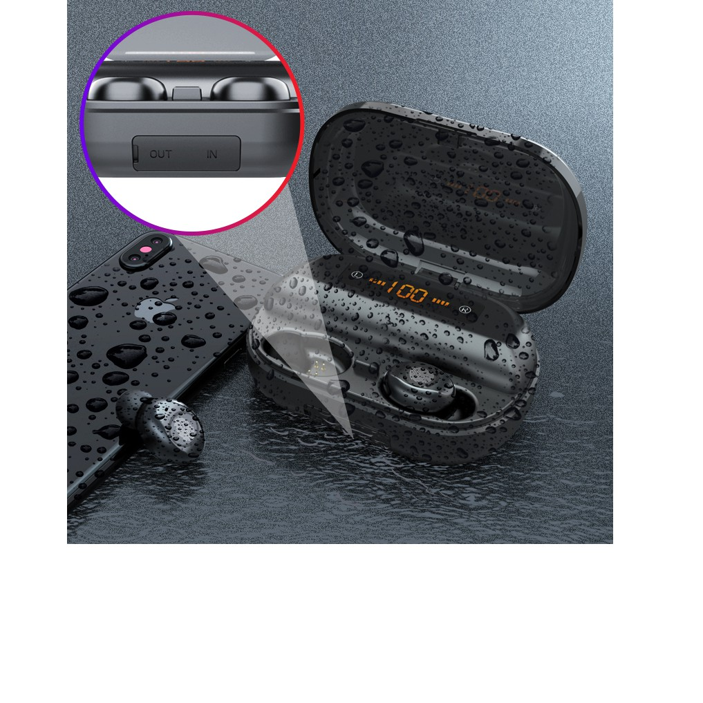 Tai nghe AMOI V12 bản QUỐC TẾ Bluetooth 5.0 cảm ứng Pin 380 giờ chống nước
