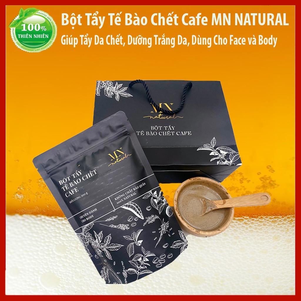 Bột Tẩy Tế Bào Chết Cafe MN Natural 💕 Dùng cho Face & Body 💕 KL 200gr - Han