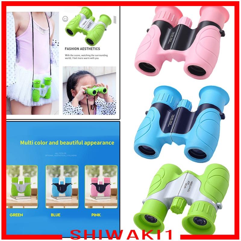 [SHIWAKI1] Portable 10x22 Optical HD Binoculars Telescope for Kids Camping Toys, Easy to Focus