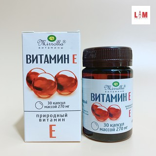 Vitamin E đỏ của Nga Mirrolla 270mg Hộp 30 Viên [Chính Hãng] thumbnail