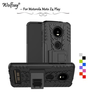 Armor Shockproof Rubber Hard Cover Phone Protective Case For Motorola Moto Z4