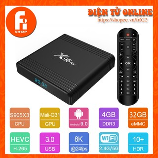 Android TV Box X96 Air - Amlogic S905X3, 4GB Ram, 32GB bộ nhớ trong, Android TV 9.0