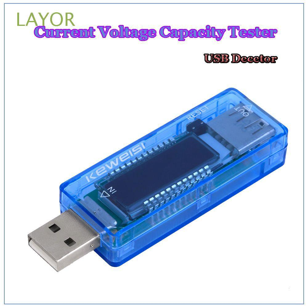 LAYOR High Quality Convenient Practical USB Charger LED Display Current Meter