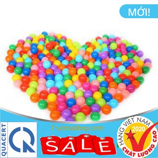 Túi 100 quả bóng nhựa cao cấp cho bé vui chơi thumbnail